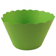 Bright Green Cupcake Wrappers x 50 Per Pack